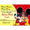 30 Convites Mickey 7x10